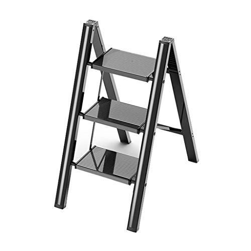 Teleskopleitern Multifunktionaler Heim-Tritthocker, Faltbare Dachbodentreppe Aus Aluminium, für Küche, Garten, Garage, Büro Stehleitern (Color : Style1, Size : Four step ladder)