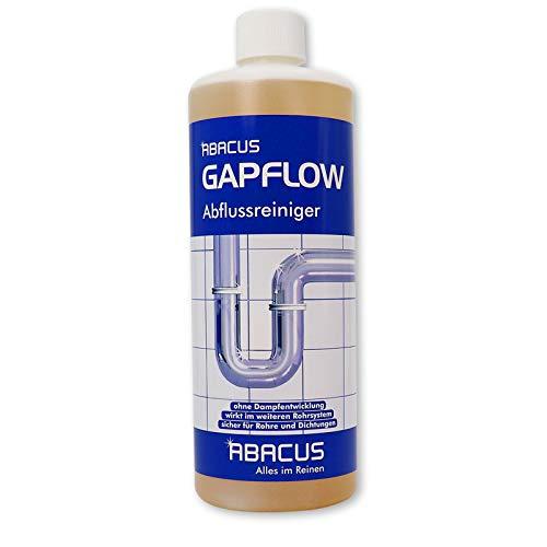 Preisvergleich Produktbild ABACUS GAPFLOW 1000 ml Abflussreiniger Rohrfrei Abfluss Verstopfung Reiniger Rohre Abwasser Abwasserrohre Abflussrohre Rohrverstopfungsmittel Haarlöser flüssig