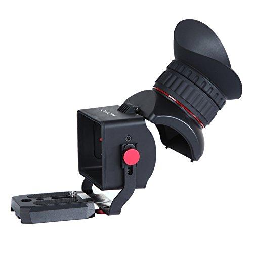 Visor para Vídeo con Pantalla LCD 3X Universal Movo Photo VF40 con Ocular con Tapa Flip-Up para Cámaras DSLR Canon EOS, Nikon, Sony Alpha, Olympus & Pentax - para Pantallas de 3