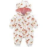 Famuka Baby Strampler Jungen Mädchen Herbst Winter Overall Spielanzug (Rot, 3-6 Monate)