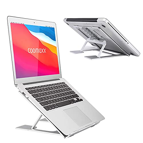 "Adjustable Laptop Stand,Ventilated Portable Ergonomic Notebook Riser for Desk,Multi-Angle Adjustable Portable Anti-Slip Mount for MacBook, Surface Laptop, Notebook, 10""-17"" Tablet (Silver01)"
