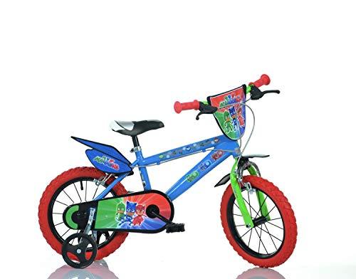 """Dino- Bicicletta per Bambini pjmasks 16"""" Nylon PJ Masks, 416U-PJ"""