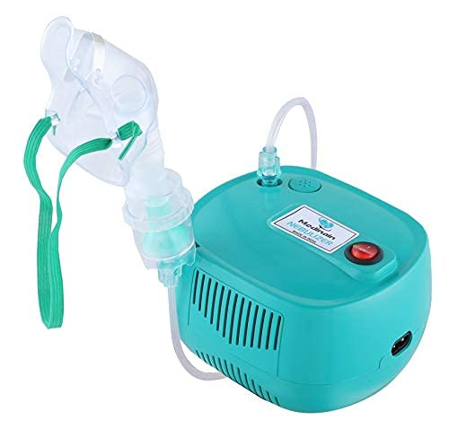 Medinain Compressor Nebulizer With Portable And Light Weight Machine Kit For Adult and Kid (Aqua)