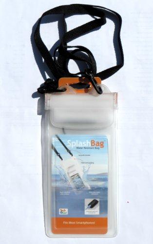 Splashbag Wasserabweisende Tasche mit Kopfhörer Plug für iPhone, iPod, Smartphones, & Mehr