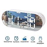 Réveil Numérique LED Miroir,Réveils électroniques Digital Horloge Maquillage...