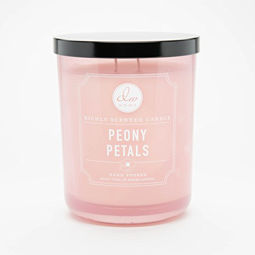 DW Home Peony Petals Scented Large 2-wick Candle by Decoware