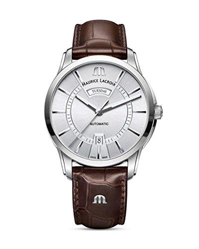Maurice Lacroix Reloj de Hombre PT6358-SS001-130-1 Pontos con Pantalla analógica Suiza, Color marrón