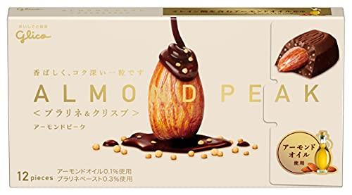 江崎グリコ アーモンドピーク(プラリネ&クリスプ) アーモンドチョコレート アーモンドオイル ビタミンE配合 12粒×10個