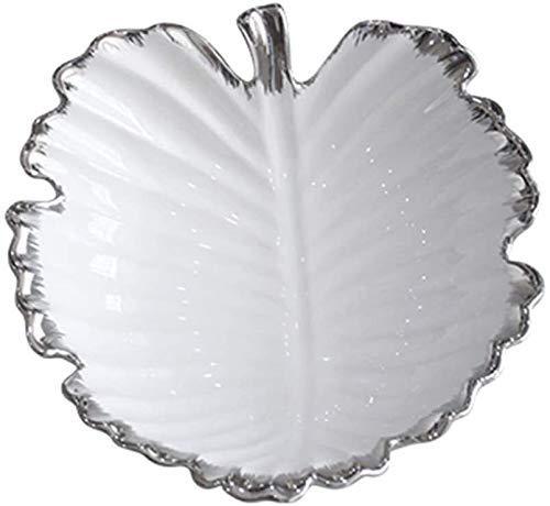 COLiJOL Plato de fruta con plato de fruta con plato de aperitivos con fruta seca selección de cerámica moderna taza de fruta con decoración creativa para el hogar
