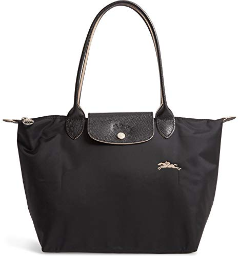 Longchamp 'Medium 'Le Pliage Club' Nylon Tote Shoulder Bag, Black