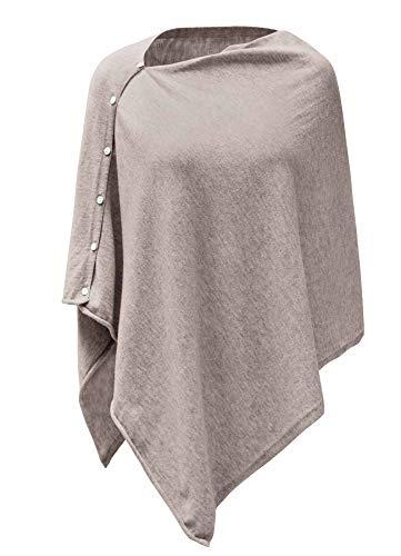 PULI Damen Schal Poncho Decke Cape Cardigan Kaschmir/Kaschmir Wickelschal Geschenk für Mutter