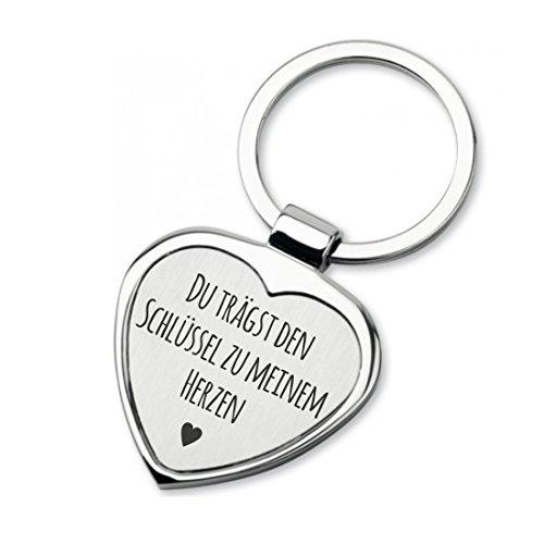 Lieblingsmensch Schlüsselanhänger in Herzform Modell: Du trägst den Schlüssel zu Meinem Herzen