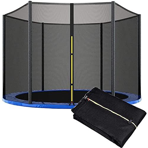 HJCC Redes De Seguridad De Reemplazo para Trampolín, Red De Protección De Seguridad, para Trampolín La Prevención Lesiones En Niños Al Aire Libre Varios Tamaños Judicious,305 cm 6 Poles
