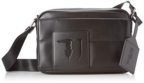 Trussardi Jeans Tici Cacciatora Sm Ecoleather, Borsa Messenger Uomo, Nero (Black), 18x6x26 cm (W x H x L)