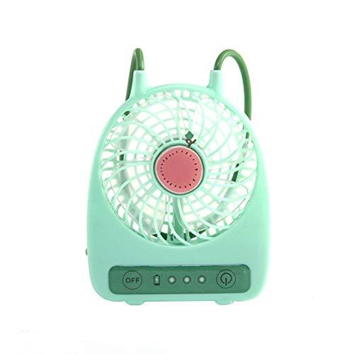 CNmuca 3 Modos Estilo USB Fruit Color Resfriador de mesa portátil Ventilador de mão Ar condicionado de mão Ventilador de resfriamento Ar condicionado de verão Resfriador de melancia verde