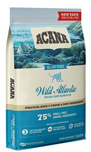 Acana Dry Cat Food, Wild Atlantic, Saltwater Fish with Freeze Dried Liver, 10lb