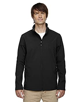 Core 365 Mens Cruise Two-Layer Fleece Bonded Soft Shell Jacket  88184 - Black 703,XXXX-Large