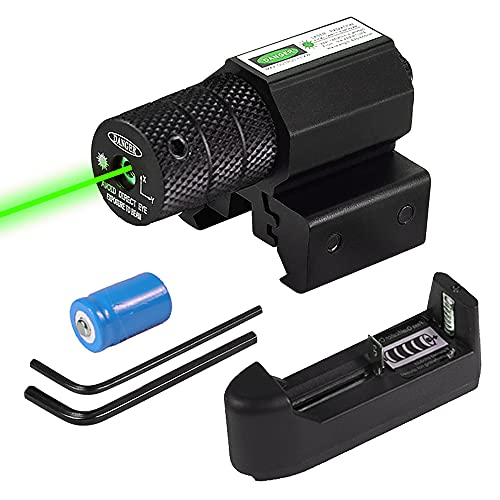 XOOBIU Green Laser Beam Dot Sight Scope for Hunting Gun Rifle Pistol Fits 20mm Rail