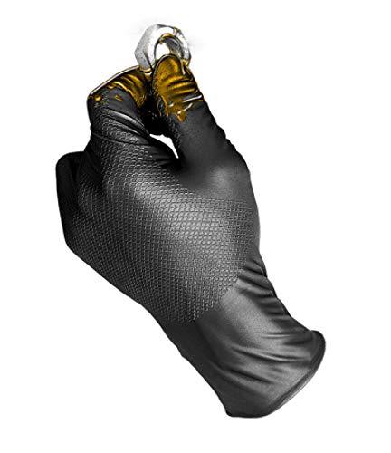 Juba 580 NR/L Guante gripazz nitrilo ambidiestro negro talla l
