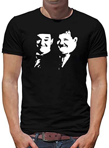 TShirt-People Dick und Doof T-Shirt Herren L Schwarz