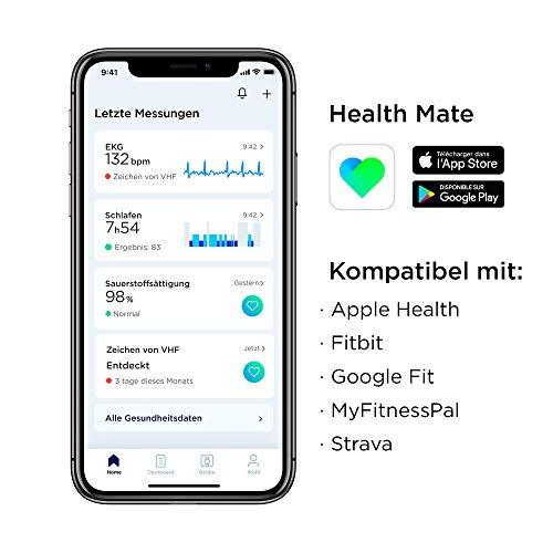 Withings Unisex-Adult Scanwatch 42mm White Hybrid Smartwatch mit EKG, Herzfrequenzsensor und Oximeter, weiß - 2