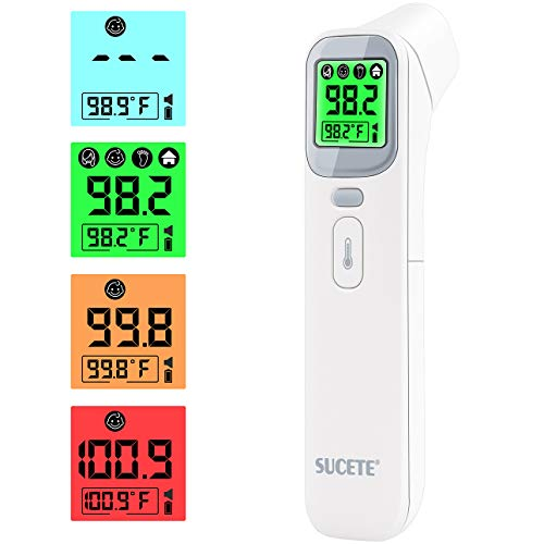 sucete Non-Contact Forehead Thermometer, Infrared Thermometer for Adults and Kids, Digital Forehead Thermometer