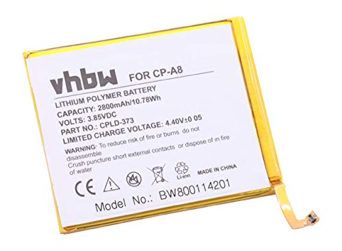 vhbw Li-Polymer Akku 2800mAh (3.85V) passend für Handy Smartphone Telefon Coolpad A8, A8-930