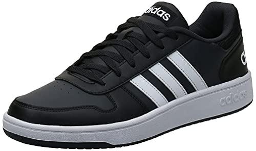 adidas Hoops 2.0, Zapatos de Baloncesto Hombre, Negro (Core Black/FTWR White/Carbon Core Black/FTWR White/Carbon), 38 EU