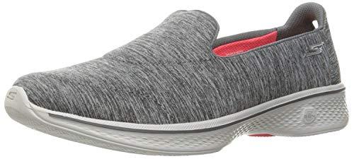Skechers Go Walk 4-Achiever, Zapatillas para Caminar para Mujer, Grey Gry, 40.5 EU C/D