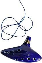 ningbao951 12 Hole Ceramic Ocarina Instrument Ceramic Alto C Legend of Zelda Flute Blue Color Mini Musical Instrument Ocarina