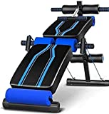 Banc de musculation à la maison - Banc d'haltères réglable - Banc pliable - Muscles abdominaux réglables - Équipement de fitness pour abdominaux - Multifonction