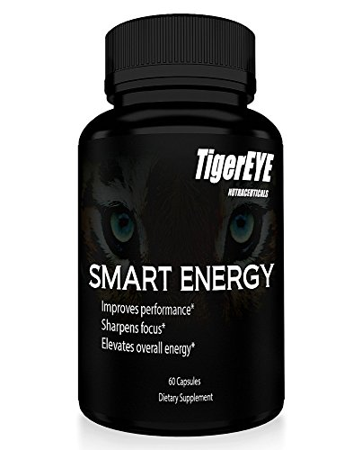 Smart Energy: New Caffeine with L-Theanine for Powerful Energy, Focus & Clarity- #1 Ranked Cognitive Performance Stack- Proven No Crash or Jitters - All Natural - Caffeine 100mg, L-Theanine 200mg