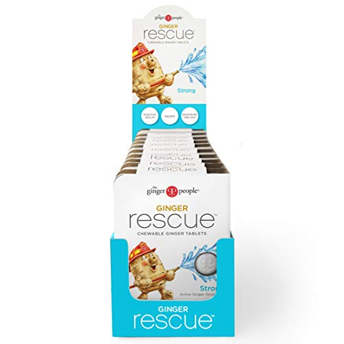 Ginger People The Rescue Chewable Tablets 5.5 Ounce, Strong, 240 Count, (Pack of 10) from The Ginger People