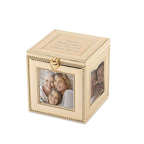 Things Remembered Personalized Gold Cube Frame with Engraving Included