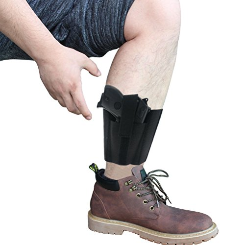 9. CREATRILL Ankle Holster with Padding for Concealed Carry with Elastic Securement