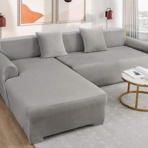 BLACK ELL Fundas para Sofá Elástica 3 Plazas Cubre Moderno,Funda de Tela para sofá Cubierta con Todo Incluido, Universal para Todas Las Estaciones-B_L,Cubre Sofá Universal Cubierta de Sofá de Color