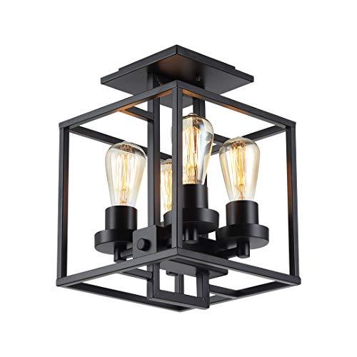 Soarl-A plafondlamp, led-plafondlamp, industriële stijl, restaurant kroonluchter ruimte creatieve glazen kast vier tafellampen beschermen de ogen