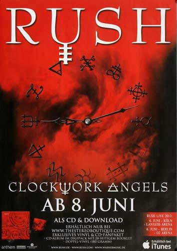 Rush - Clockwork Angels, Tour 2012 » Konzertplakat/Premium Poster | Live Konzert Veranstaltung | DIN A1 «