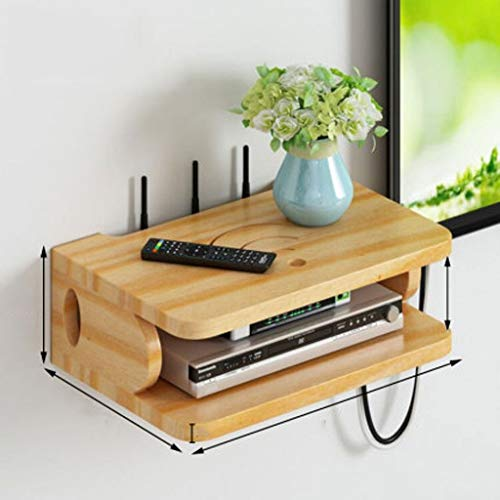 YAOLUU WiFi Storage Box Storage Wall Mount Shelf Box Router WiFi Router Storage Boxes, DVD Storage Rack Organizer Box for DVD Player, Cable Box, Satellite, Wii and Video Accessories Set-top Box Stand
