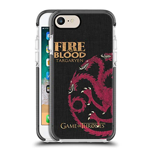 Head Case Designs Officially Licensed HBO Game of Thrones Targaryen House Mottos Black Shockproof Gel Bumper Case Compatible With Apple iPhone 7 / iPhone 8 / iPhone SE 2020