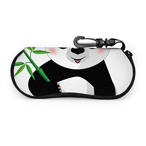 Chinese Lucky Giant Pandas Thin Eyeglass Cases For Women Sunglasses Travel Case Light Portable Neoprene Zipper Soft Case Fashion Glasses Case
