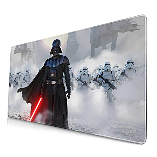 Large Gaming Mouse Pad Darth-Vader,Mousepad with Anti-Slip Rubber Base & Stitched Edges,Smooth Surface Laptop Desk Pad,Computer Keyboard and Mice Combo Pads Mouse Mat 23.6X11.8 Inch
