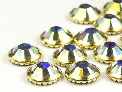 gogoritas Piedras del Strass Hotfix de Swarovski Elements | SS20 (4.7mm), Crystal-AB Anillo del Oro, 1440 Piezas (10 Gross)