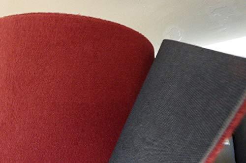 autix 19,90€/m² Autoteppich Carpet Teppich Meterware Velour weinrot Bordeaux 200cm