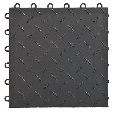 Speedway Garage Floor 6 Lock Diamond Tile