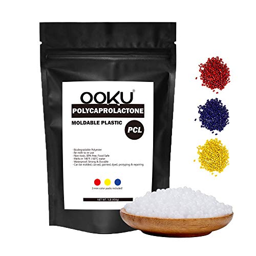 OOKU  Moldable Plastic 1LB 454g amp Color Pellet Kit   PCL   Perfect for Cosplayers and Hobbyists   Durable Hand moldable Plastic for DYI Crafts Cosplay Repairs prototyping   Melts in hot Water