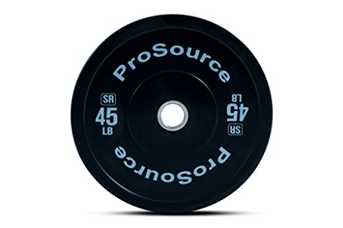 ProsourceFit Solid Rubber Bumper Plates (Sold Individually) with Steel...