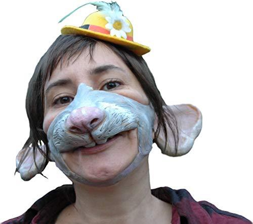 Ratten Maske aus Latex – Tiermaske Prinzessin Yersinia