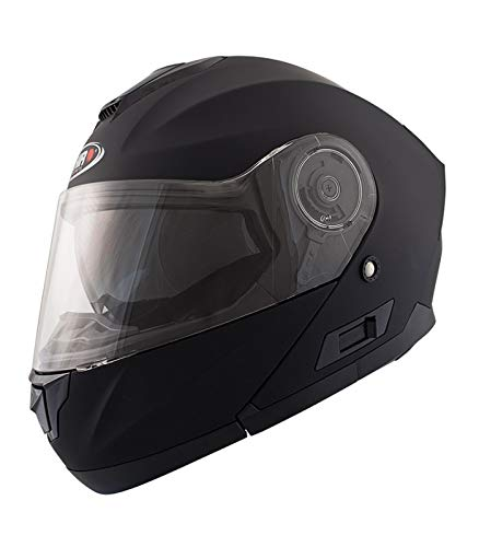 Shiro – Casco sh507, color negro mate, tamaño XL
