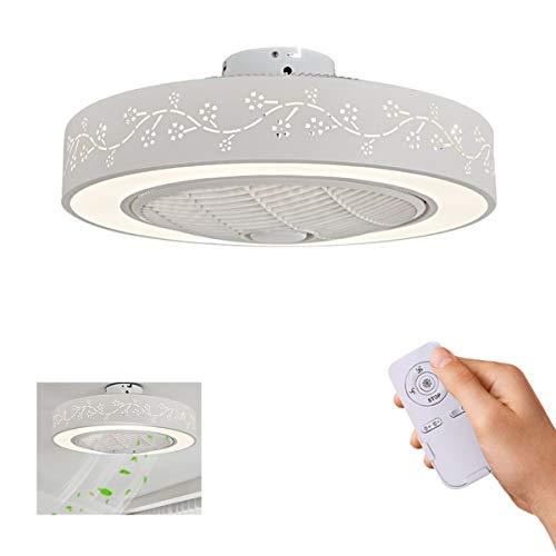 Vudifo Ventilador de techo con iluminación 72W luz de techo LED con mando a distancia Temperatura de color adjustable,3 velocidad del viento Luz del ventilador para la sala de estar, dormitorio